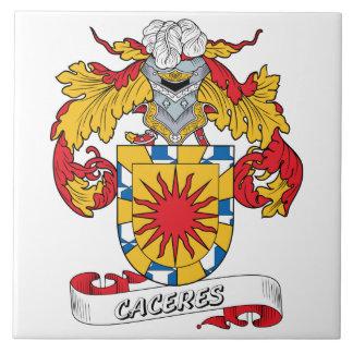 Escudo de la familia de Caceres Azulejos