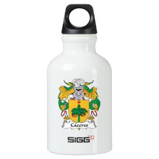 Escudo de la familia de Caceres Botella De Agua