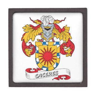 Escudo de la familia de Caceres Caja De Regalo De Calidad