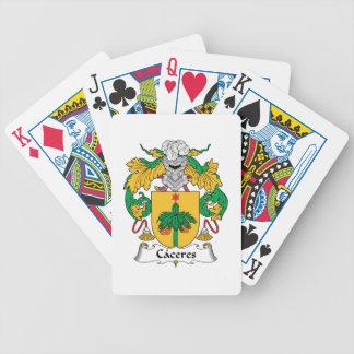 Escudo de la familia de Caceres Baraja Cartas De Poker
