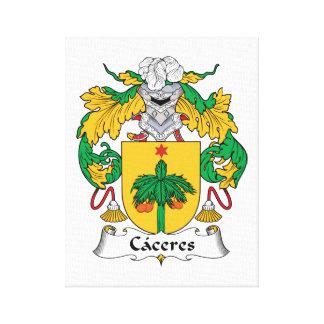 Escudo de la familia de Caceres Lienzo Envuelto Para Galerías