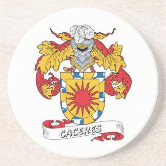 Escudo de la familia de Caceres Posavasos Cerveza