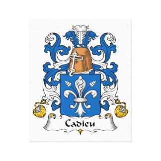 Escudo de la familia de Cadieu Impresion En Lona