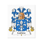 Escudo de la familia de Cadieu Lona Envuelta Para Galerías