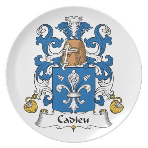 Escudo de la familia de Cadieu Plato Para Fiesta