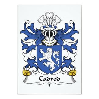 Escudo de la familia de Cadrod Invitación 12,7 X 17,8 Cm