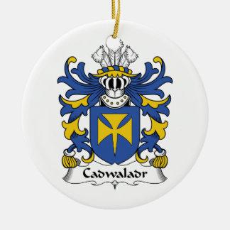 Escudo de la familia de Cadwaladr Ornamento Para Arbol De Navidad