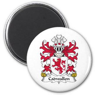 Escudo de la familia de Cadwallon Imán Redondo 5 Cm
