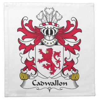 Escudo de la familia de Cadwallon Servilleta De Papel
