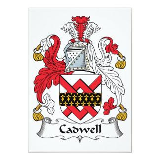 """Escudo de la familia de Cadwell Invitación 5"""" X 7"""""""