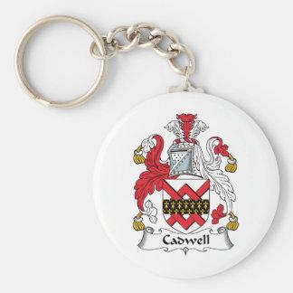 Escudo de la familia de Cadwell Llavero Redondo Tipo Pin