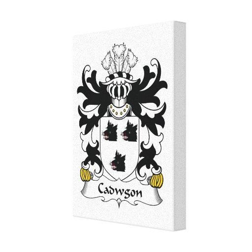 Escudo de la familia de Cadwgon Impresiones En Lona