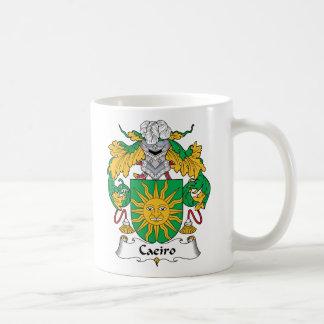 Escudo de la familia de Caeiro Tazas De Café
