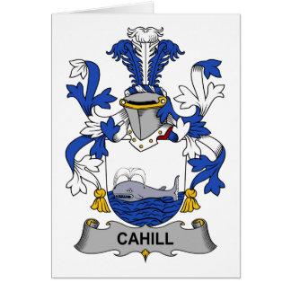Escudo de la familia de Cahill Tarjeta De Felicitación