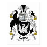 Escudo de la familia de Caine Tarjetas Postales