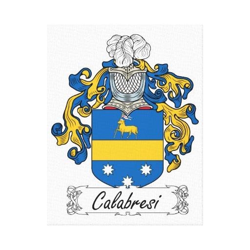 Escudo de la familia de Calabresi Impresion De Lienzo