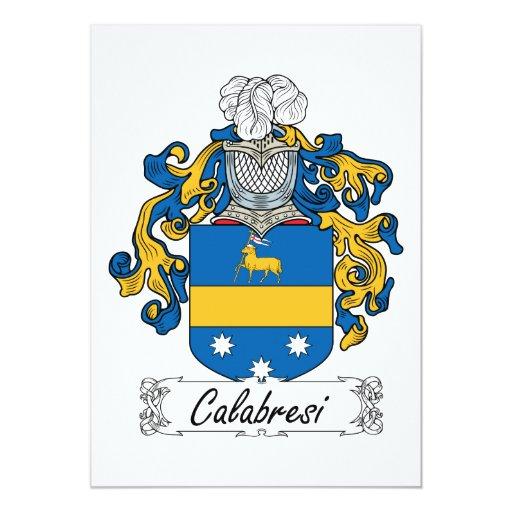"""Escudo de la familia de Calabresi Invitación 5"""" X 7"""""""