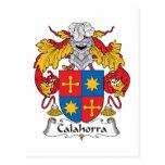 Escudo de la familia de Calahorra Tarjeta Postal