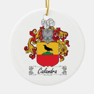 Escudo de la familia de Calandra Ornamentos De Navidad