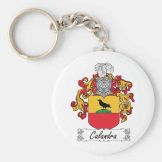 Escudo de la familia de Calandra Llavero Redondo Tipo Pin