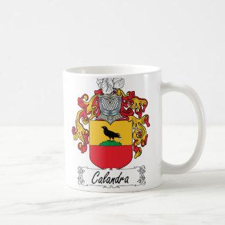 Escudo de la familia de Calandra Taza