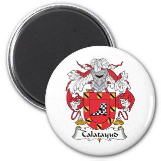 Escudo de la familia de Calatayud Imán Redondo 5 Cm
