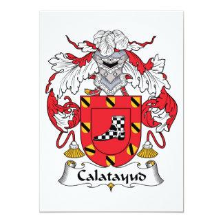 """Escudo de la familia de Calatayud Invitación 5"""" X 7"""""""