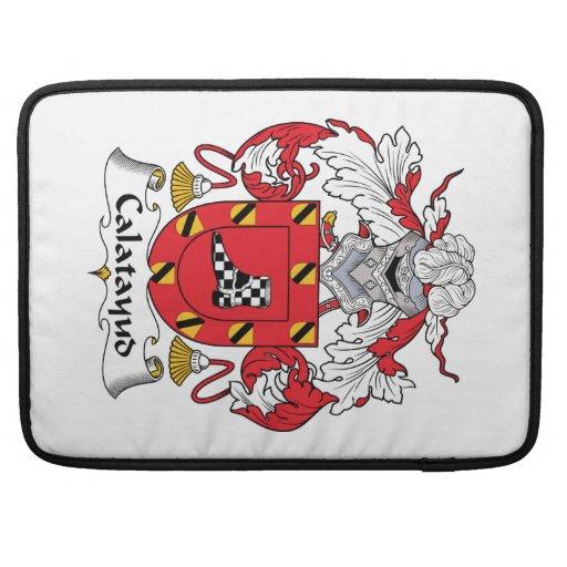 Escudo de la familia de Calatayud Funda Para Macbook Pro