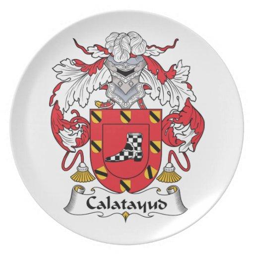 Escudo de la familia de Calatayud Plato De Comida