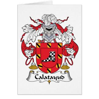 Escudo de la familia de Calatayud Tarjeta De Felicitación