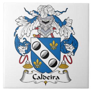 Escudo de la familia de Caldeira Azulejo Cuadrado Grande