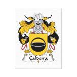 Escudo de la familia de Caldeira Lienzo Envuelto Para Galerías