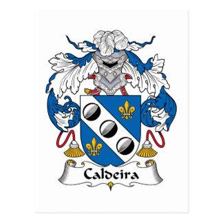 Escudo de la familia de Caldeira Tarjetas Postales