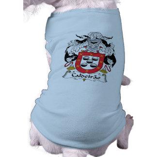 Escudo de la familia de Caldeirao Playera Sin Mangas Para Perro