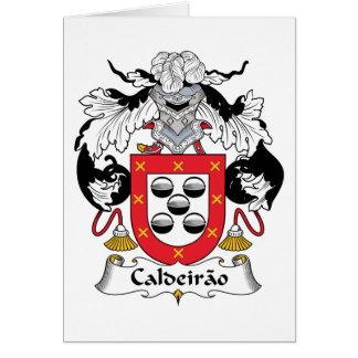 Escudo de la familia de Caldeirao Tarjeta De Felicitación