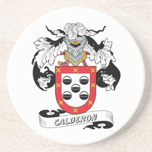 Escudo de la familia de Calderon Posavasos Cerveza
