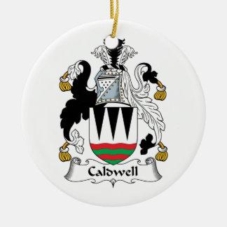 Escudo de la familia de Caldwell Adorno Redondo De Cerámica