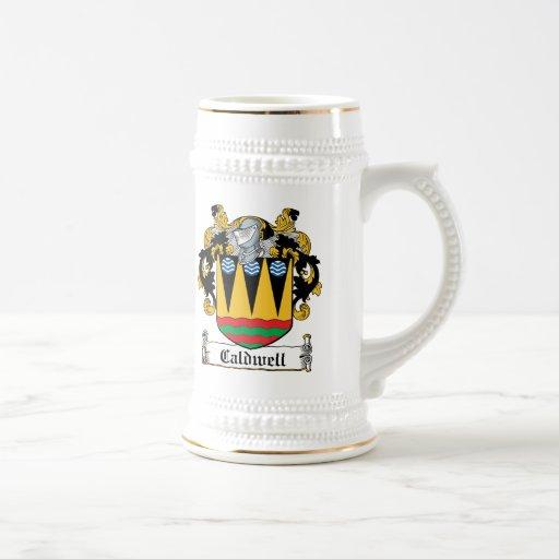 Escudo de la familia de Caldwell Jarra De Cerveza