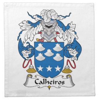 Escudo de la familia de Calheiros Servilletas
