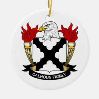 Escudo de la familia de Calhoun Adorno Redondo De Cerámica