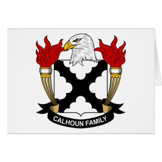 Escudo de la familia de Calhoun Tarjeta De Felicitación