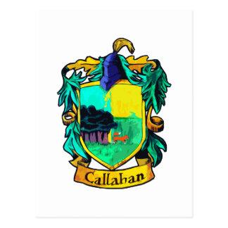 Escudo de la familia de Callahan (recorte) Tarjeta Postal