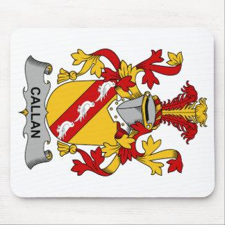 Escudo de la familia de Callan Alfombrilla De Raton