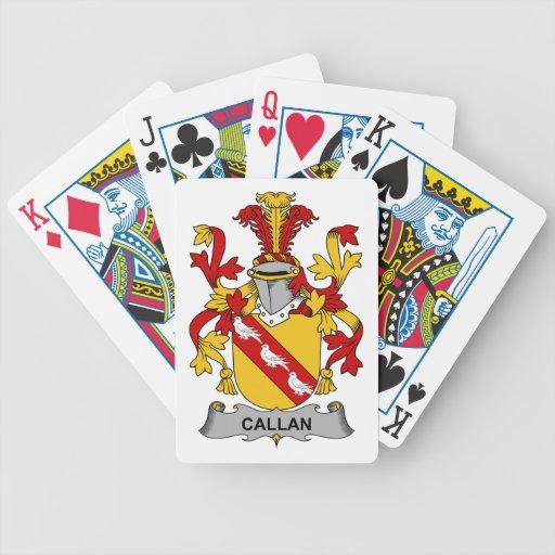 Escudo de la familia de Callan Cartas De Juego