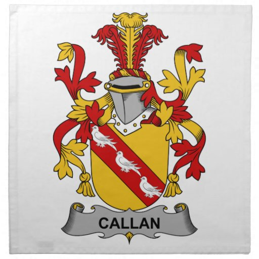 Escudo de la familia de Callan Servilletas