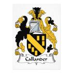 Escudo de la familia de Callander Comunicados Personalizados