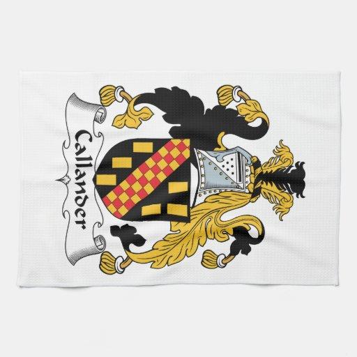 Escudo de la familia de Callander Toallas De Cocina