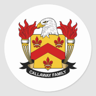 Escudo de la familia de Callaway Pegatina Redonda