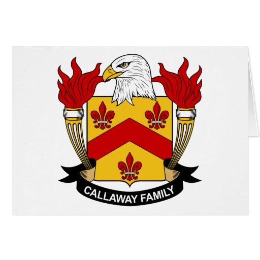 Escudo de la familia de Callaway Tarjeta De Felicitación