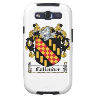 Escudo de la familia de Callender Galaxy SIII Cárcasa